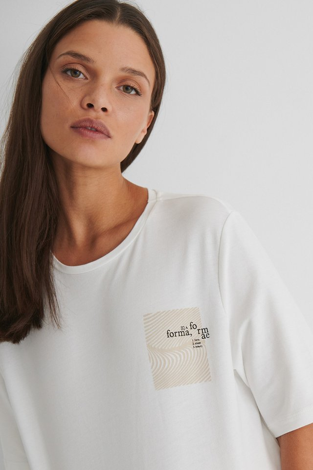 Boxy Cotton T-Shirt White