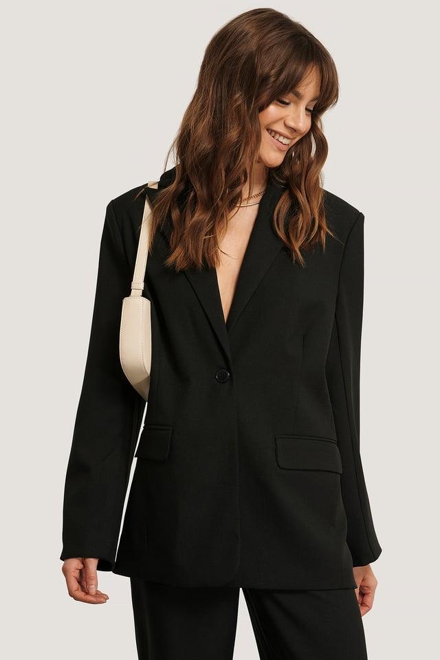 Boxy Fit Blazer Black