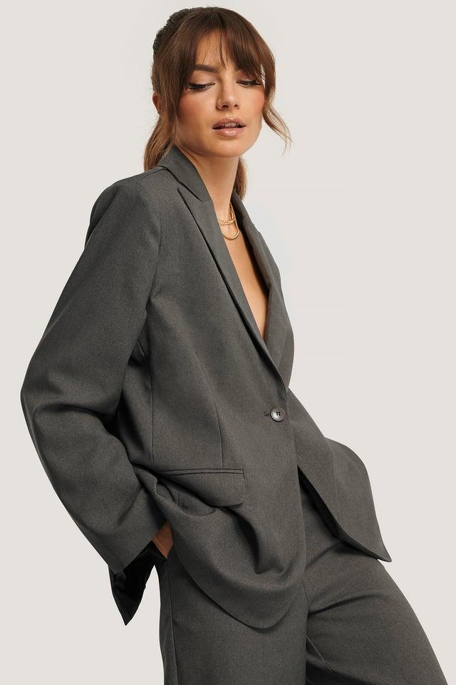 Boxy-Fit-Blazer Grey