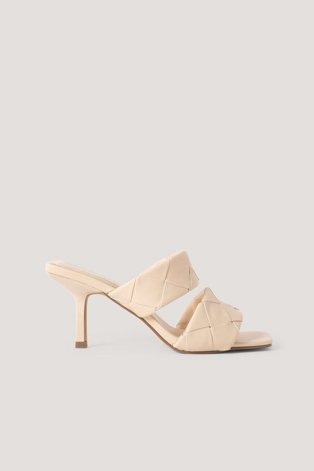 Braided Double Strap Mule Offwhite