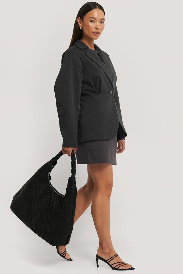 Flätad Oversize Shopper Black