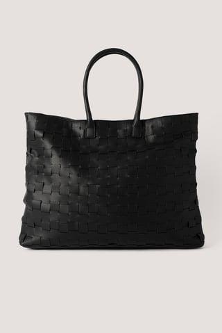 Black Braided Shopper