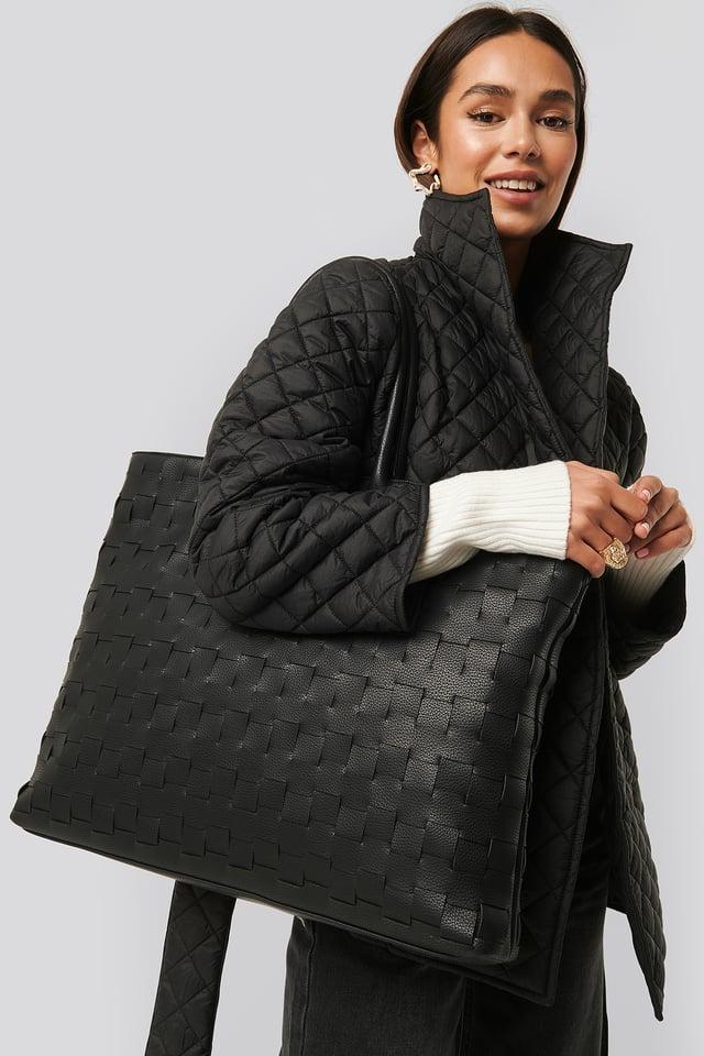 Braided Shopper Black