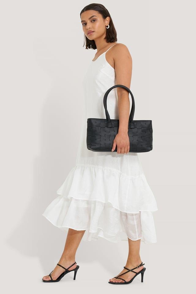Black Braided Shoulder Bag
