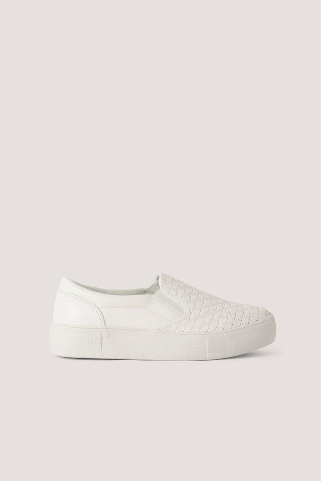 Flätade Gympaskor I Slip In-Modell White