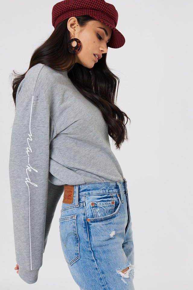 Branded Sweatshirt Grey Melange