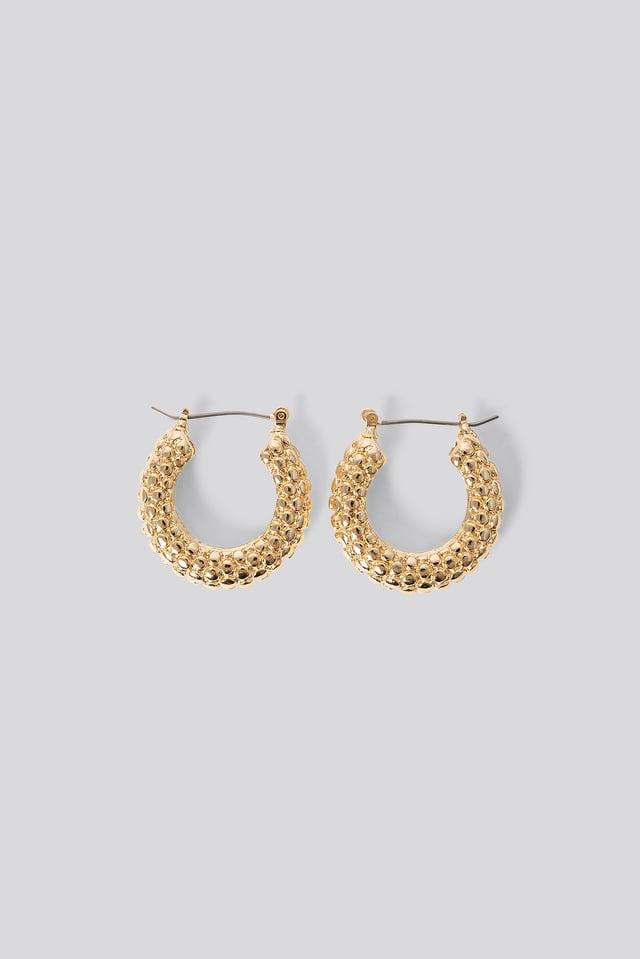 Bubble Hoop Earrings Gold