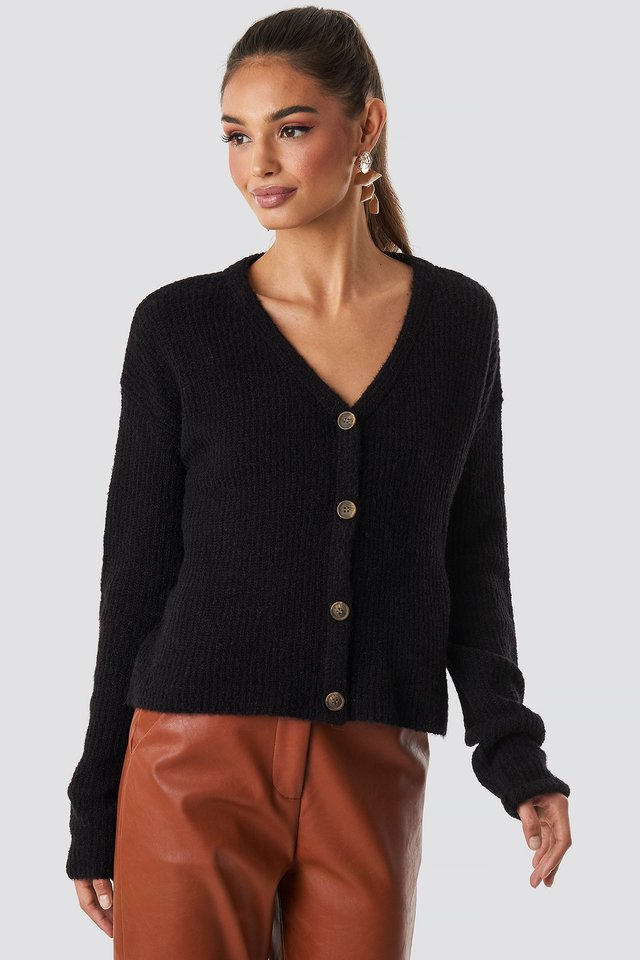 Buttoned Knitted Cardigan NA-KD