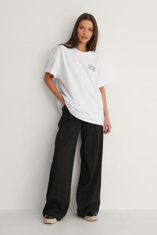 White Calm Printed T-Shirt