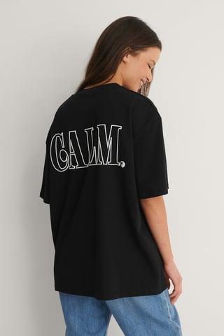Black Calm Printed T-Shirt