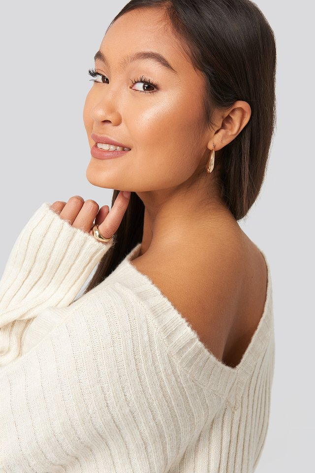 Camilla Frederikke Open Back Knitted Sweater White