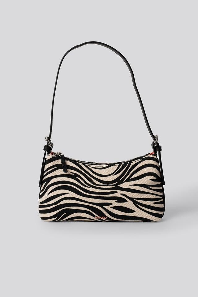 Canvas Baguette bag Zebra