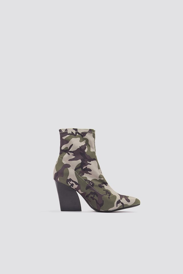 Camo Sock Boots Army