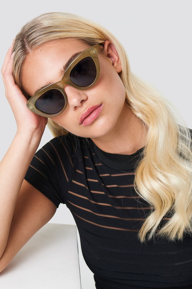 Cat Eye Sunglasses Khaki