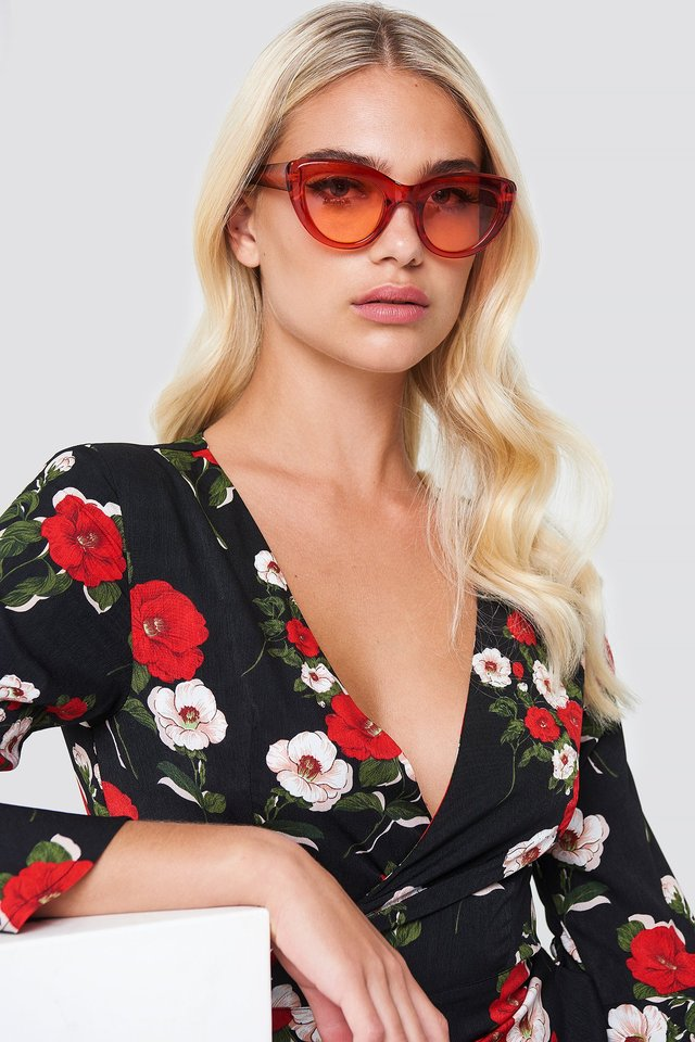 Cat Eye Sunglasses Granita red
