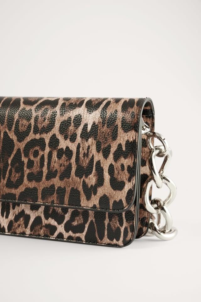 Leopard Flapväska Med Kedjerem