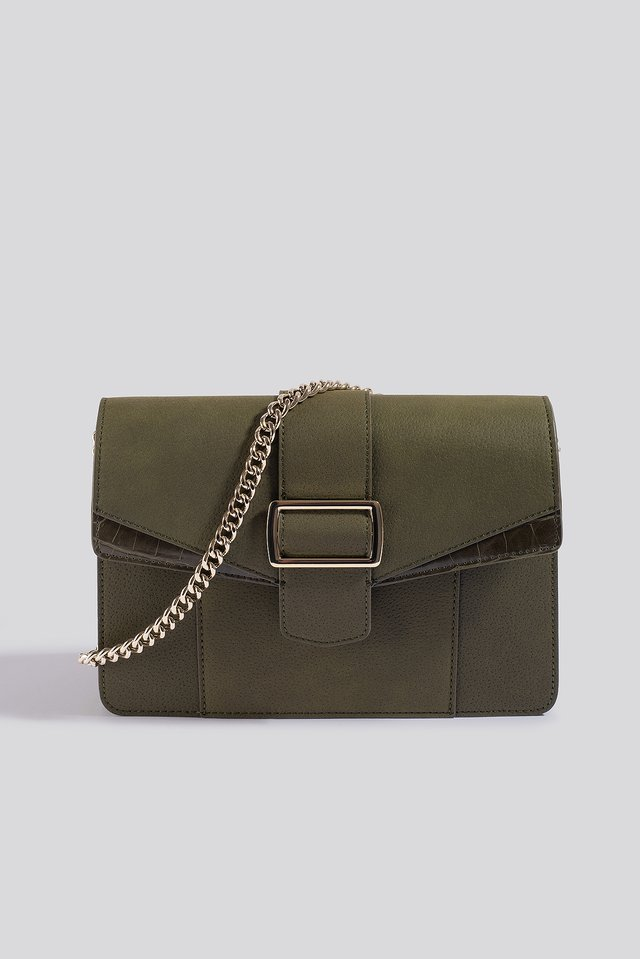 Chain Strap Crossbody Bag Green