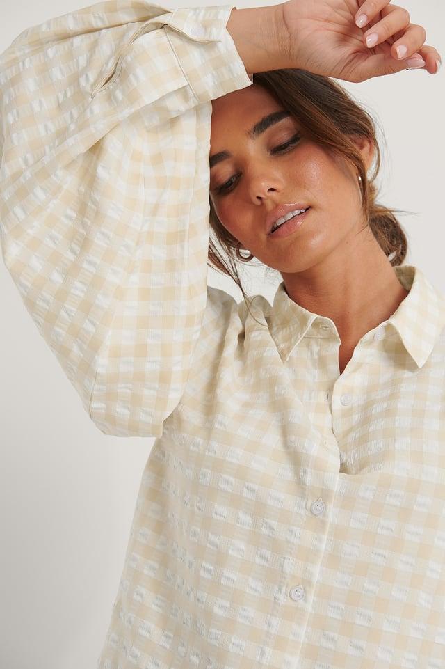 Skjorte Beige/White