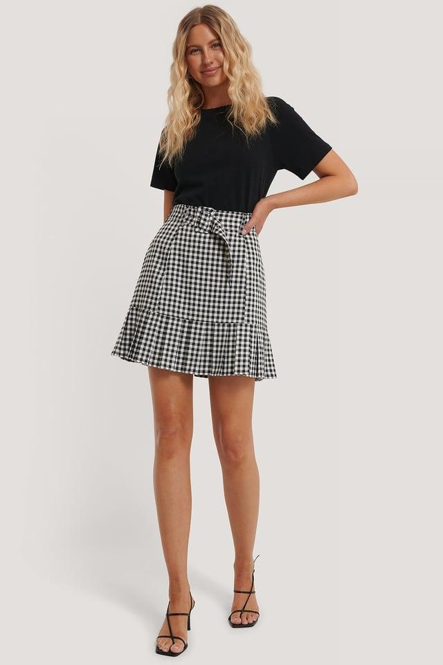 Check Check Mini Frill Skirt