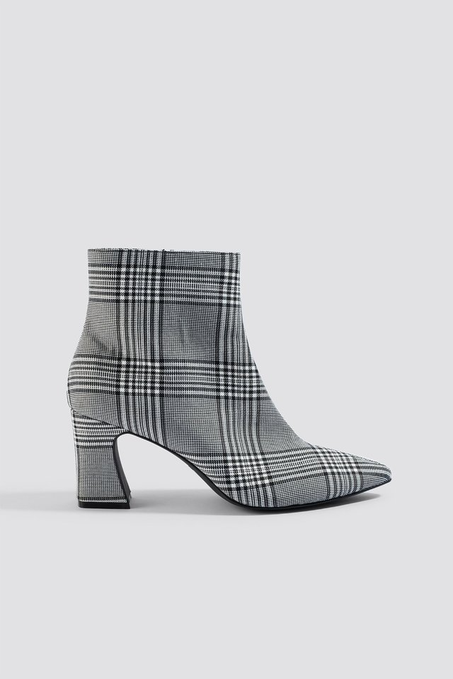 Checked Ankle Boots NA-KD Shoes