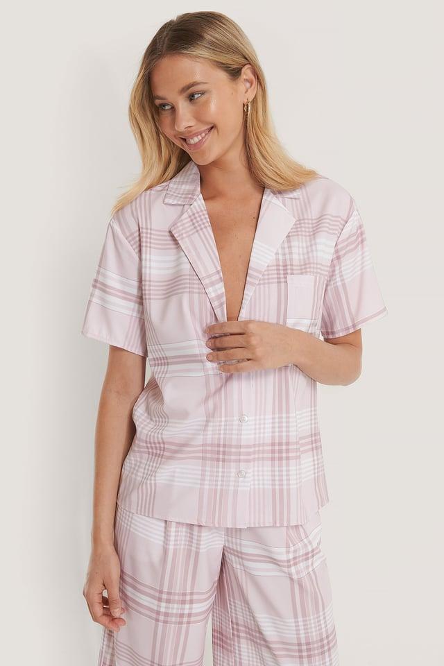 Pink Check Checked Shirt