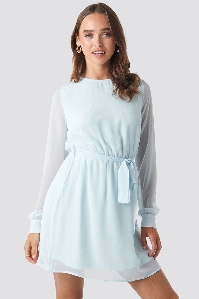 Chiffon Dress Pale Blue