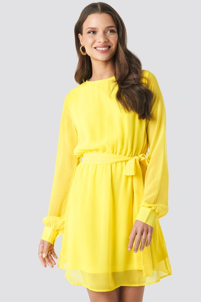 Chiffon Dress Yellow