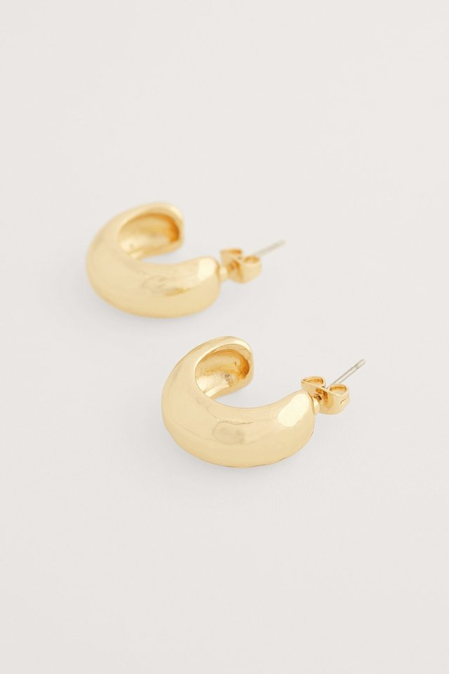 Gold Chubby Recycled Hoops