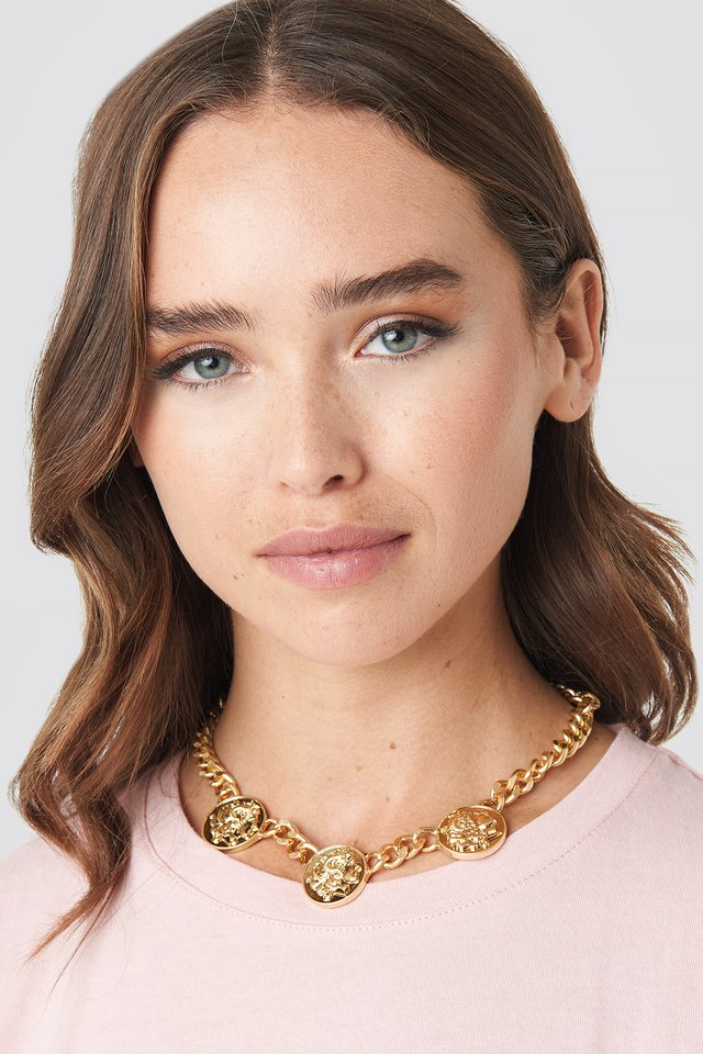 Chunky Chain Coin Necklace NA-KD Accessories