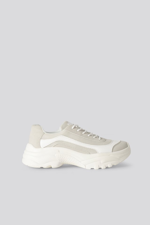 Chunky Profile Trainers Offwhite