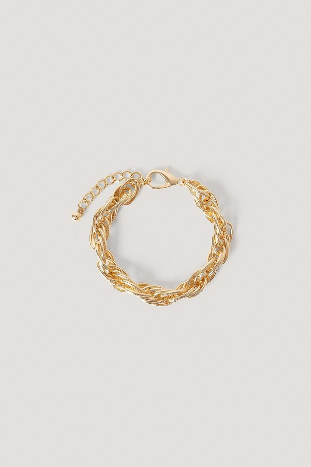 Gold Chunky Rope Chain Anklet