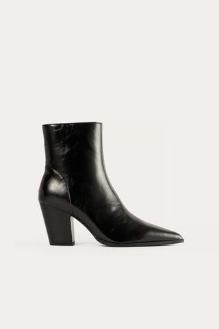 Black Støvler Med Hæl