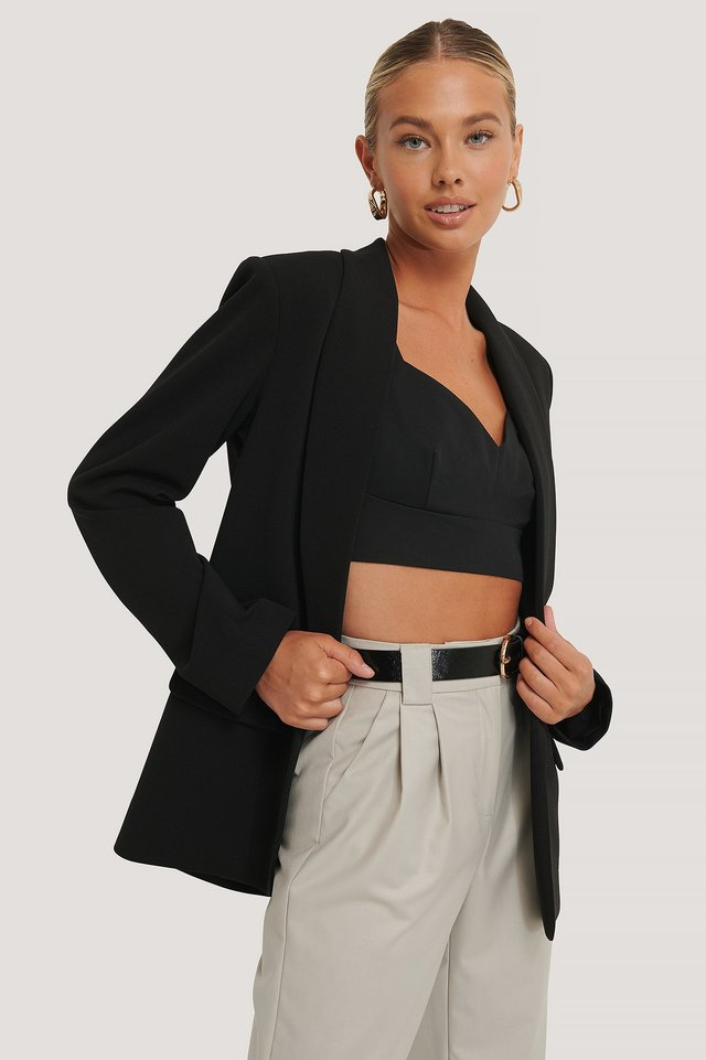 Black Klassisk Blazer