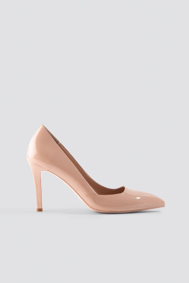 Classy Pointy Pumps Nude