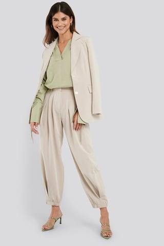 Sand Cocoon Elastic Suit Pants