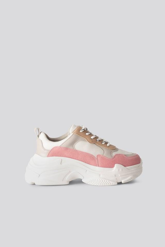 Chunky Joggesko Pink/Offwhite