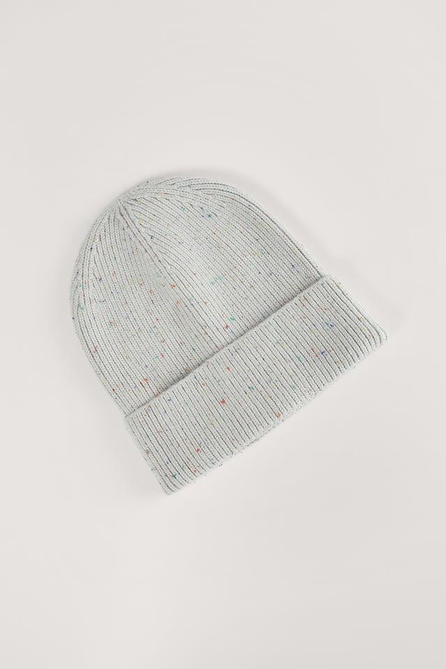 Grey Colored Melange Beanie