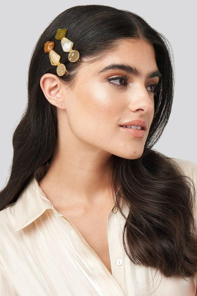 Natural Colored Stone Hairclips