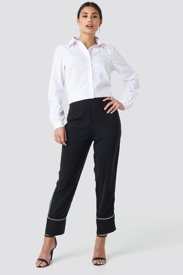 Spodnie z kontrastową lamówką Black