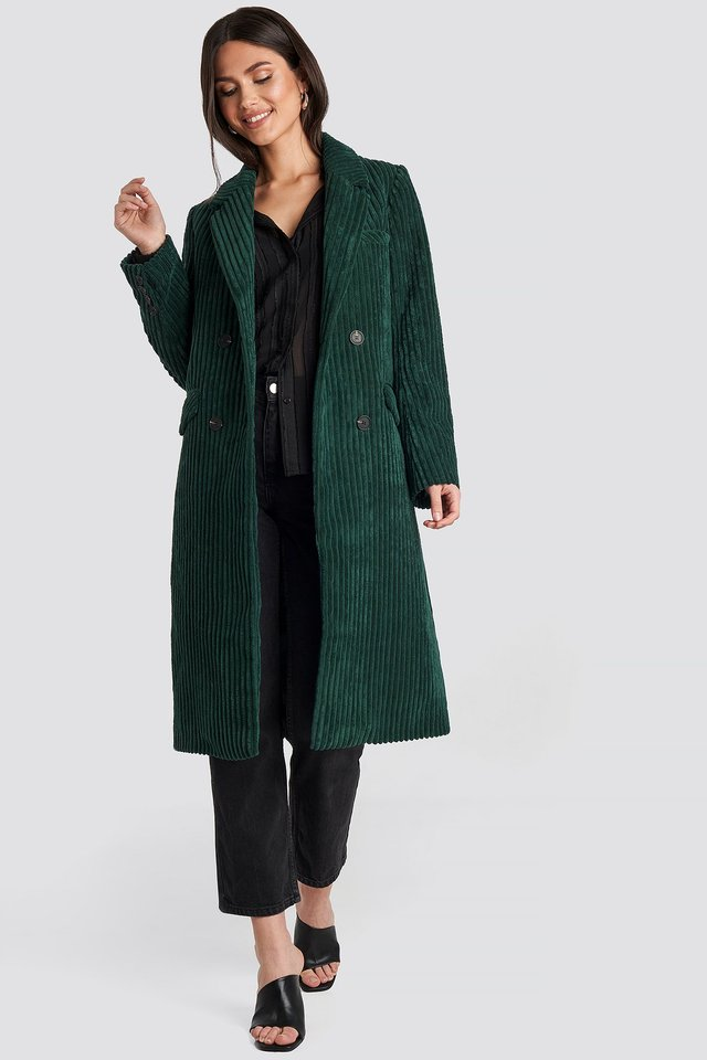 Corduroy Coat Dark Green