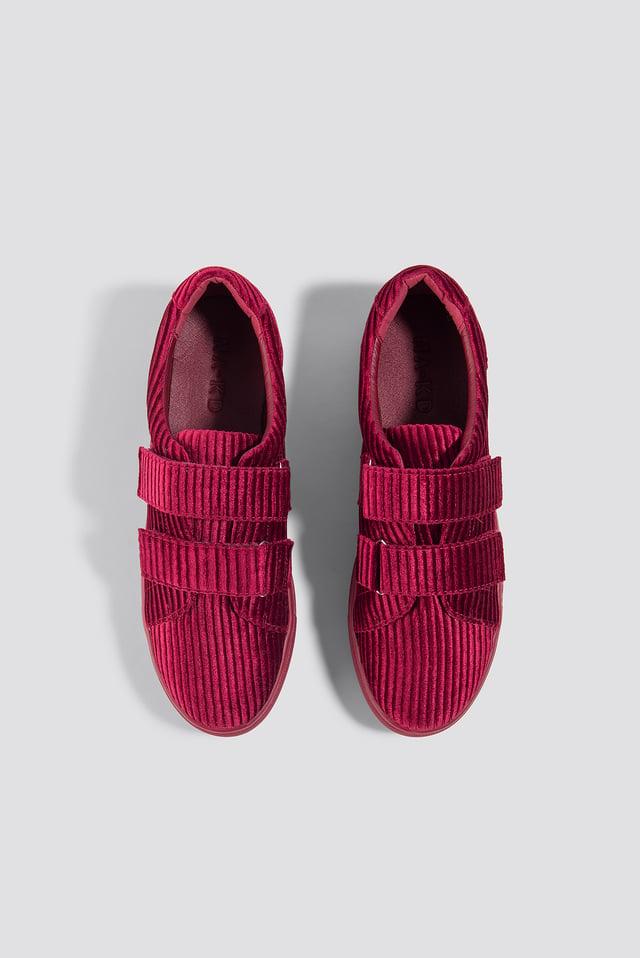 Corduroy Sneakers Burgundy