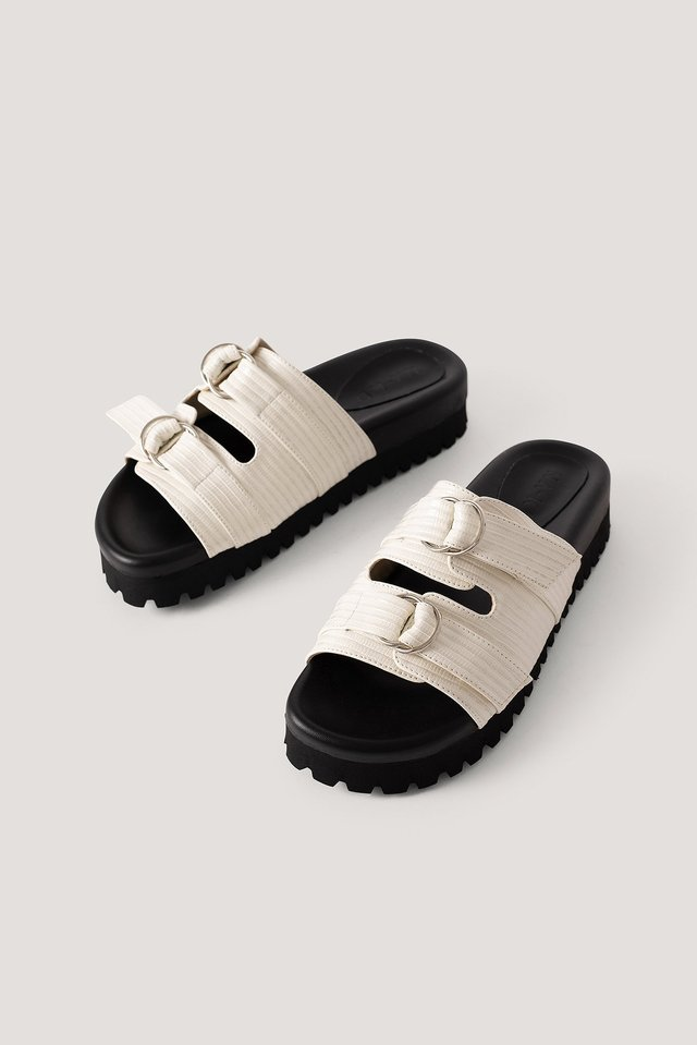 Offwhite Double Buckle Sandals