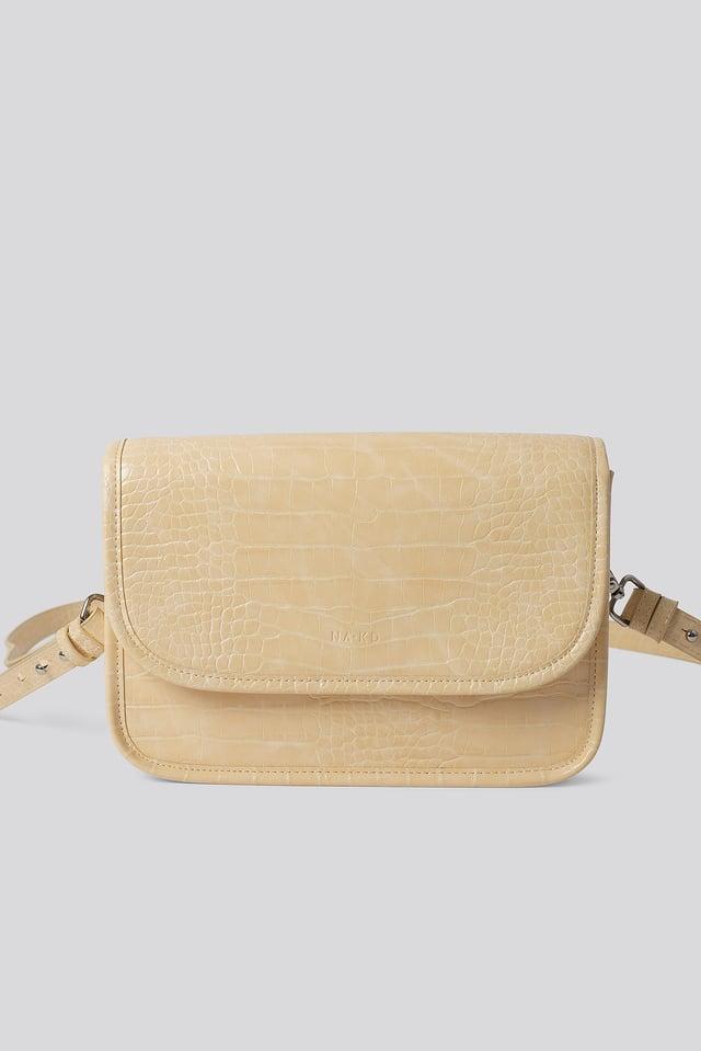 Croc Shoulder Bag Vanilla