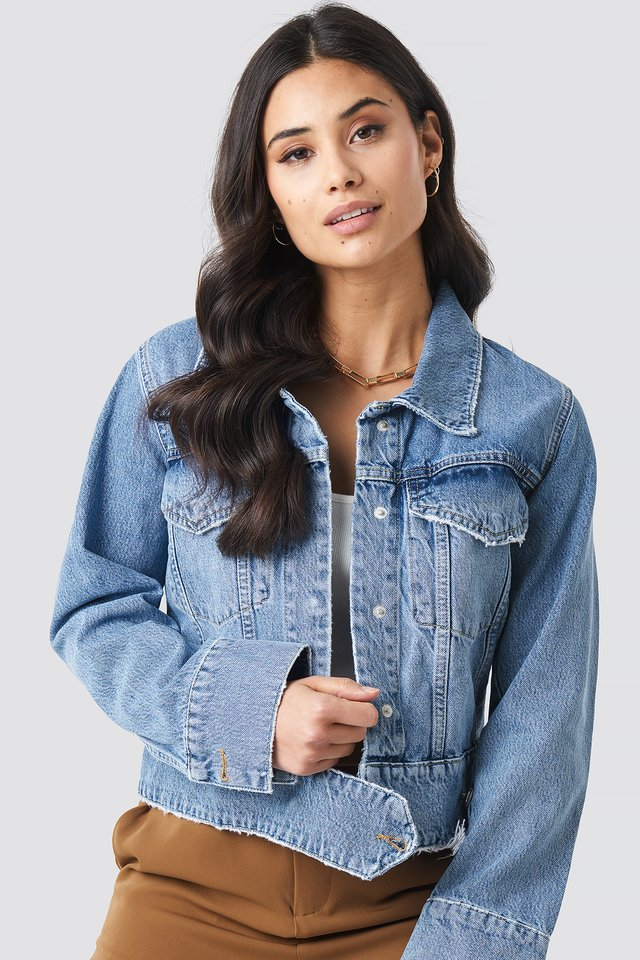 Cropped Big Pocket Denim Jacket NA-KD Trend