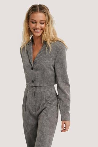 Grey Cropped Blazer