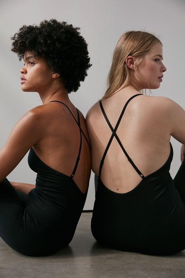 Black Seamless Cropped Bodysuit