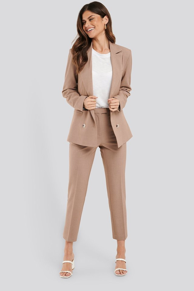 Cropped Suit Pants Terracotta