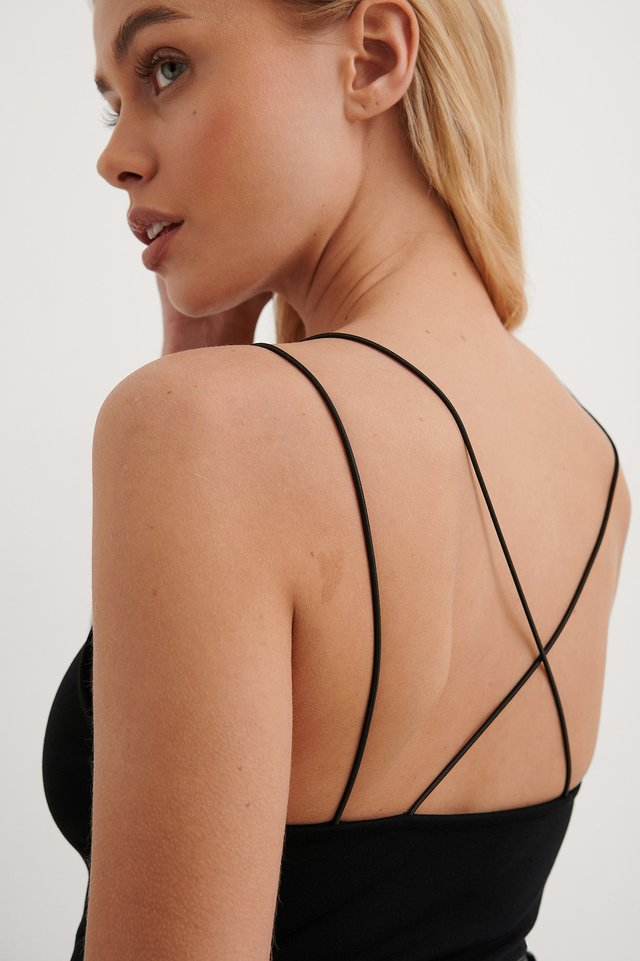 Black Cross Back Detail Body