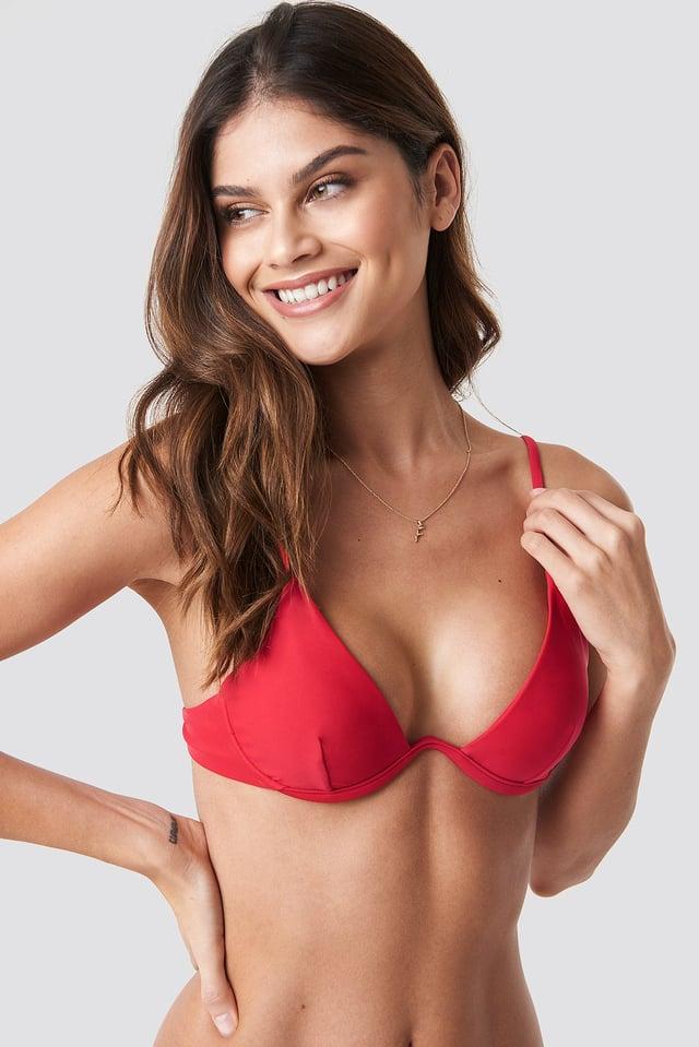 Cup Bikini Bra Red