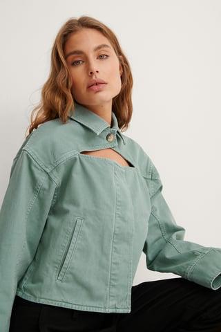 Light Turquoise Organisch Jeansjacke